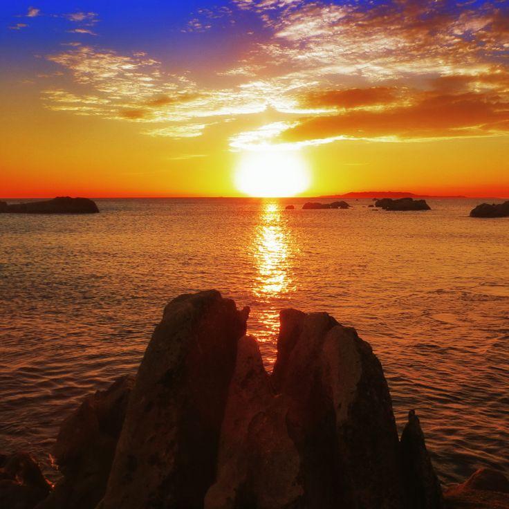 Sunst At San Vicente, Galicia Spain. Puesta de sol en San Vicente Pontevedra.