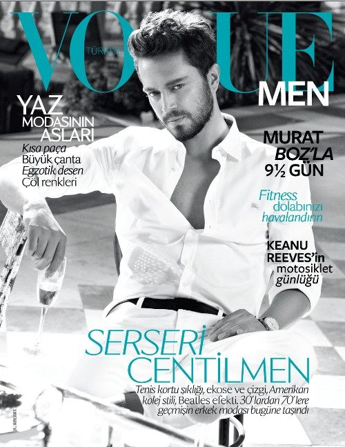 Turkish singer Murat Boz on the June cover of Vogue Men Turkey