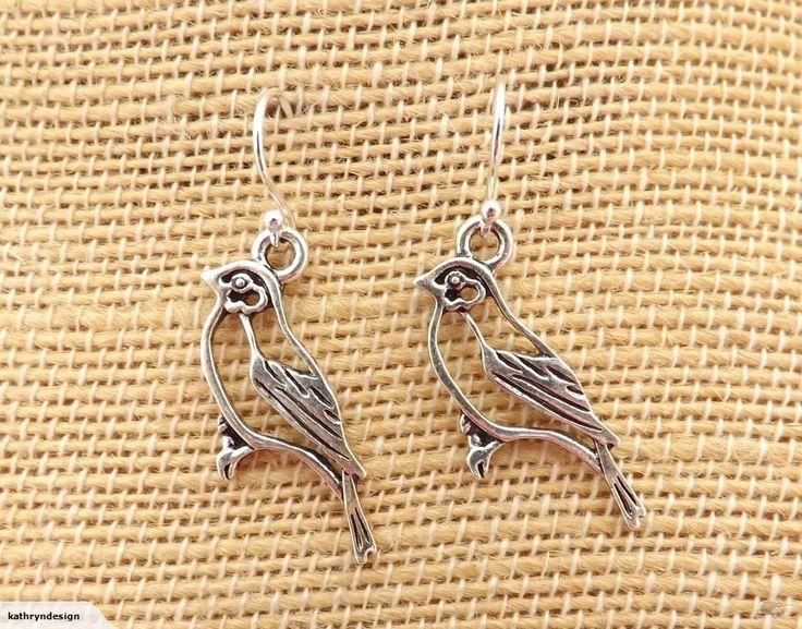 Silver Bird Earrings on 925 Sterling Silver Hooks | Trade Me