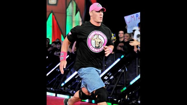 John Cena debuts his new Susan G. Komen for the Cure ring gear to help fight breast cancer at Night of Champions.: Photo