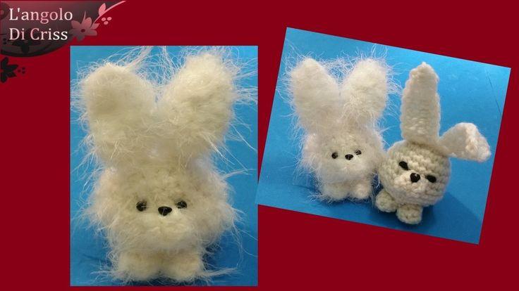 """Coniglio all'uncinetto amigurumi """"Pasquale"""" - Crochet Easter bunny - Conejito de ganchillo"""