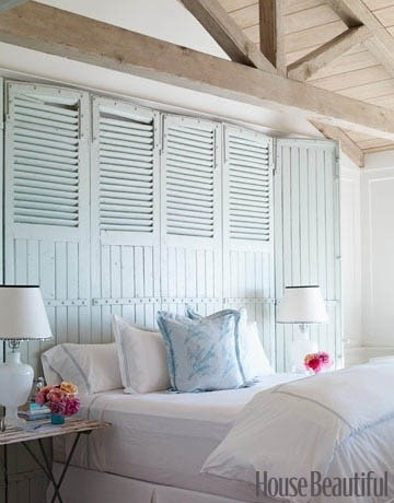 I think its the stripe and bead board effect that makes me love shutters so much.