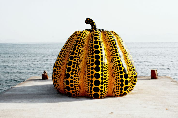 Pumpkin by Yayoi Kusama at Benesse House, Naoshima. Two Weeks in Japan, A Perfect Itinerary by Boutique Japan