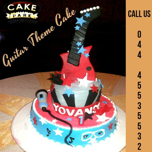 #Guitar #Theme #Cake Guitar Cakes are an exciting way to celebrate a special occasion, whether it is someone's birthday,  marriage anniversary, promotion or some other event.  Express Booking: 044-45535532