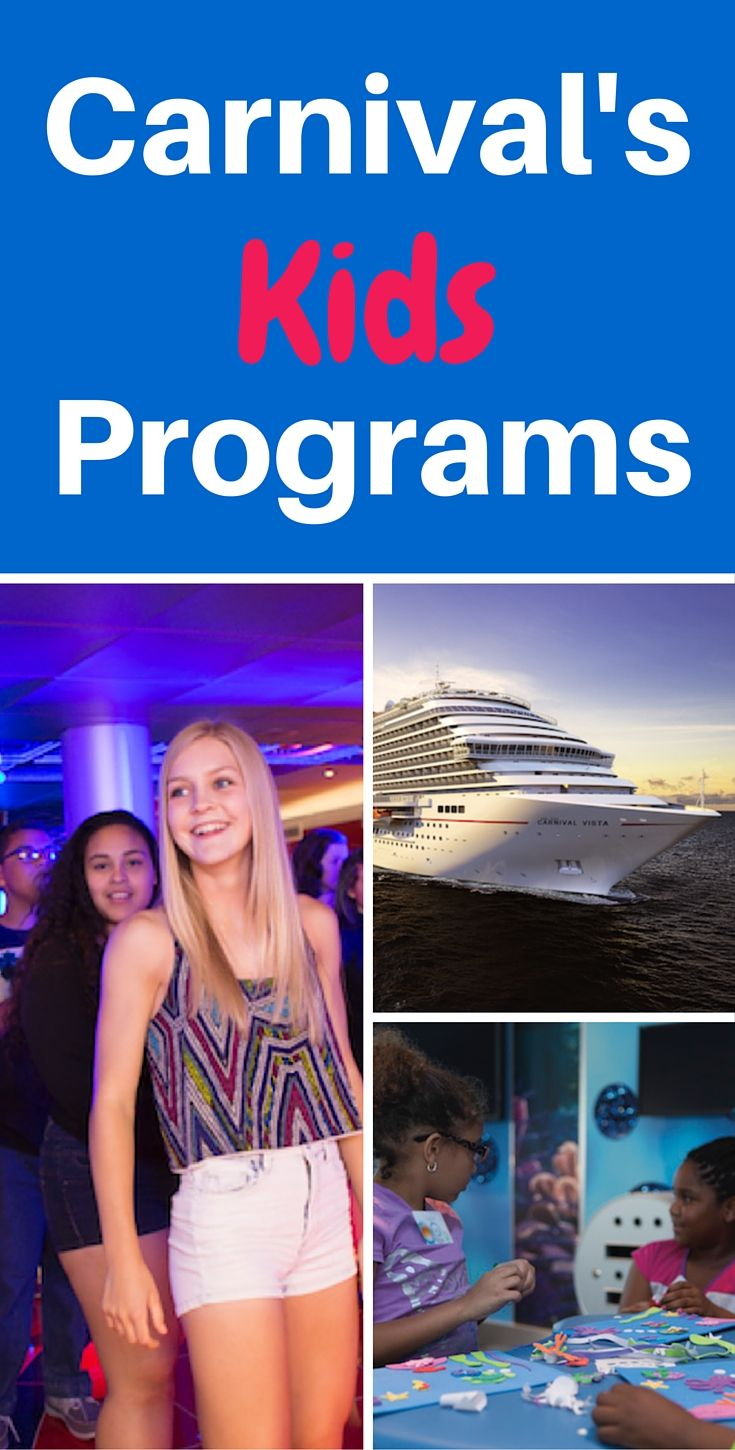 Cruise info for young adults  (kids)