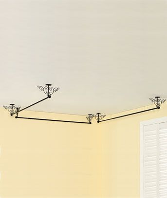 Curtain Rods ceiling mounts for curtain rods : Top 25 ideas about Ceiling Mount Curtain Rods on Pinterest | Diy ...