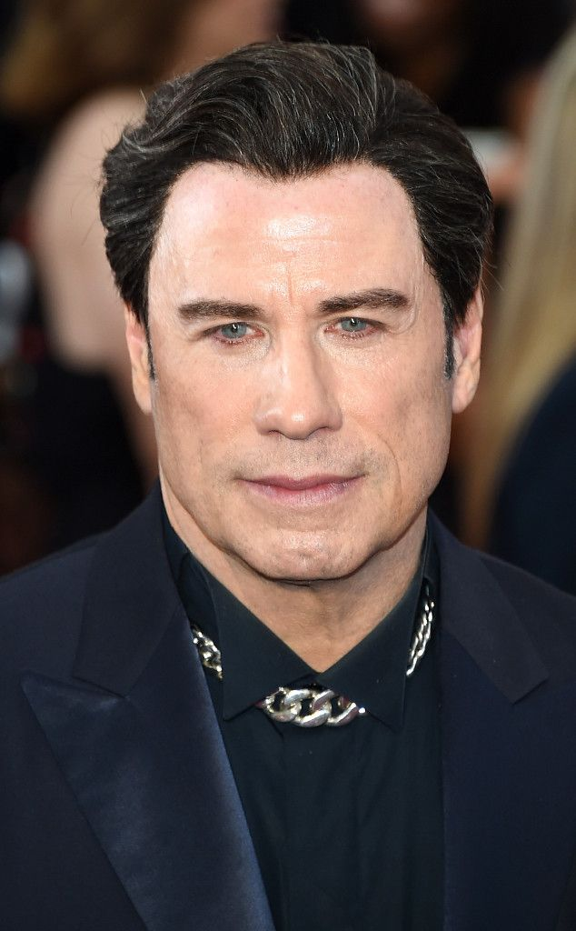 Let's Talk About John Travolta's Oscars Look, From the Choker to the Guyliner!