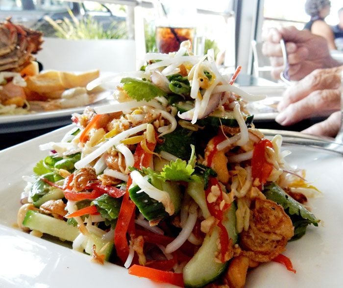 A visit to Fish on Parkyn restaurant in Mooloolaba left me wanting to make their Vietnamese salad. This one is really good but it's not quite the same.