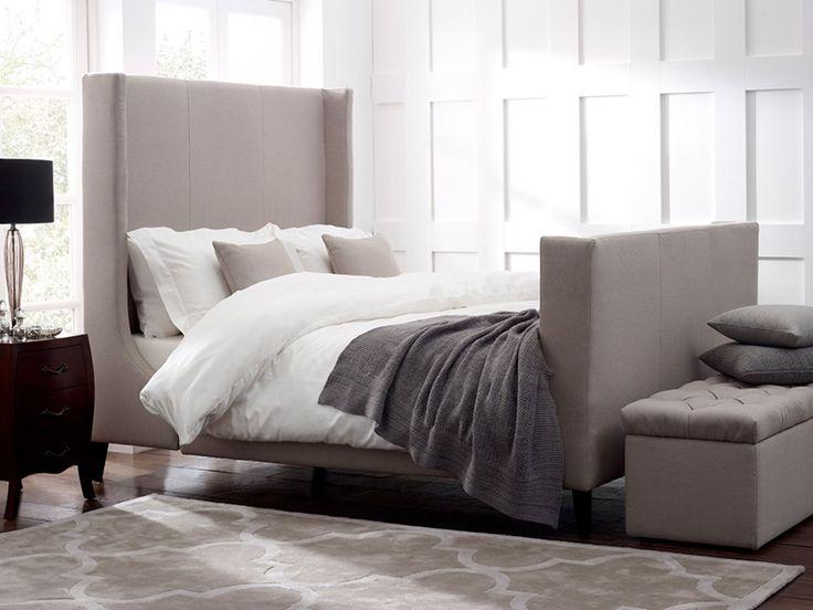 Newton Bed Superking Sandstone Beige IS