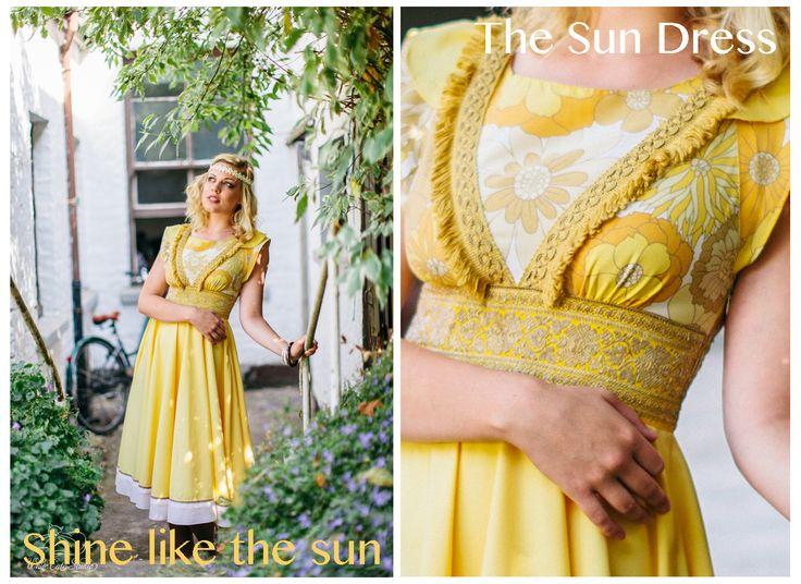 'The Sun Dress' by Alice Halliday €220 SIZE 10 Photography: White Cat Studio Hair: Rosa O Model: Kayleigh Robinson