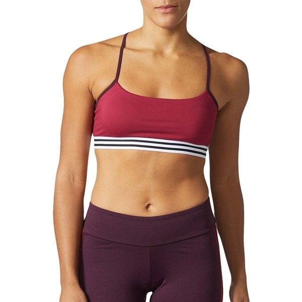 Adidas Women's Sporty Crossback Bra ($25) ❤ liked on Polyvore featuring activewear, sports bras, red, adidas sports bra, adidas sportswear, strappy sports bras, adidas activewear and red sports bra