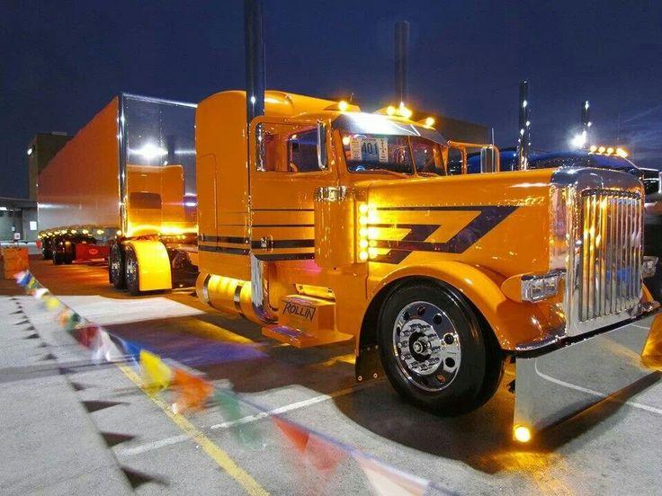 Trucks Custom Big Rig Orange : Best semi s images on pinterest