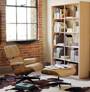 Captivating Santos Palisander Eames Lounge And Ottoman In A Nice Brick Space With A  Cowhide Rug. Eames Lounge ChairsReading ...