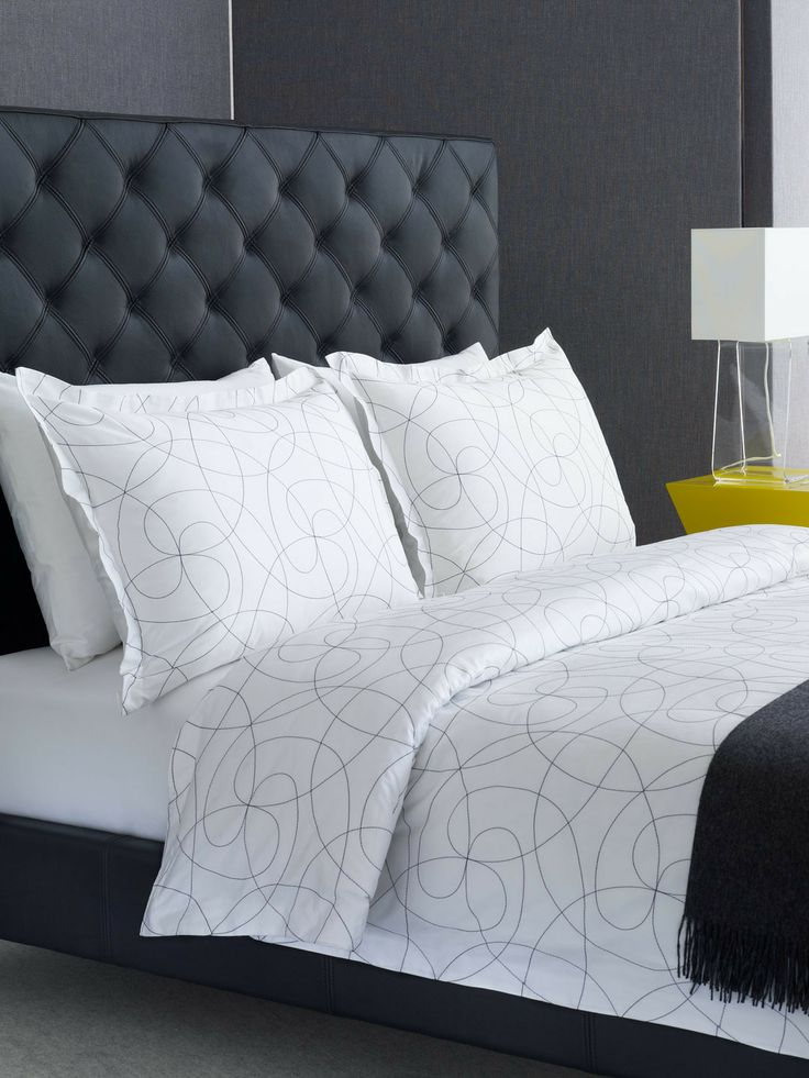 65 best bedding images on pinterest bed linen 3 4 beds for Backboard ideas for beds