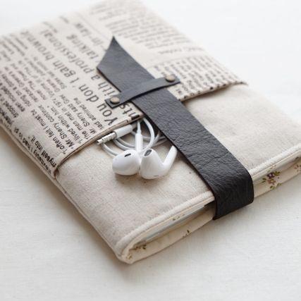 Linen ipad mini pouch