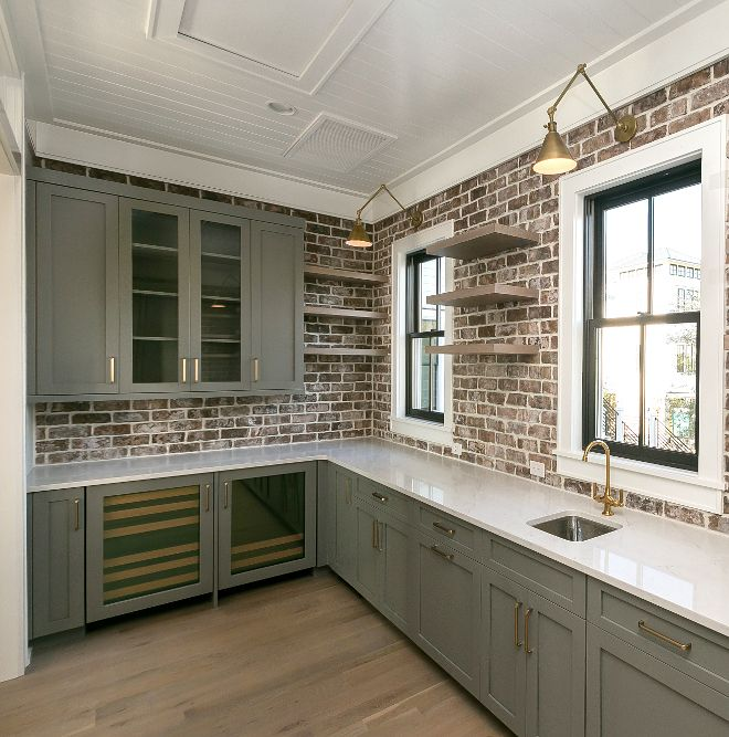 Sherwin Williams Clic French Gray Cabinet Color Farmhouse Style In 2019 Pinterest Grey Cabinets