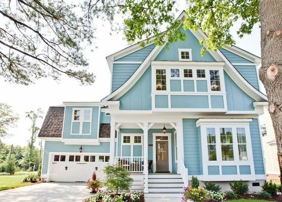 blue weatherboard houses - Google Search