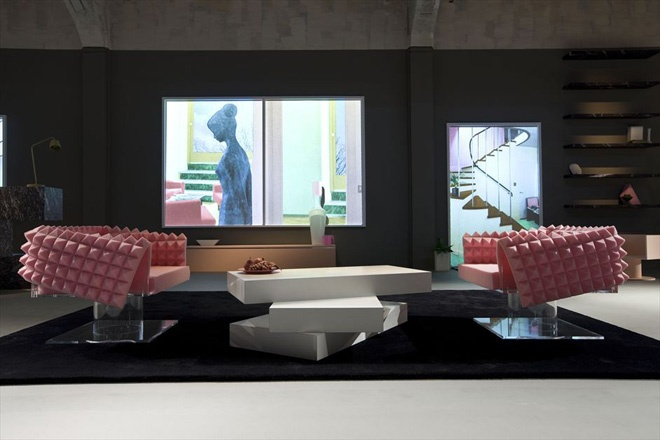 The ideal house by AMO for Prada during Milan Mens Fashion Week