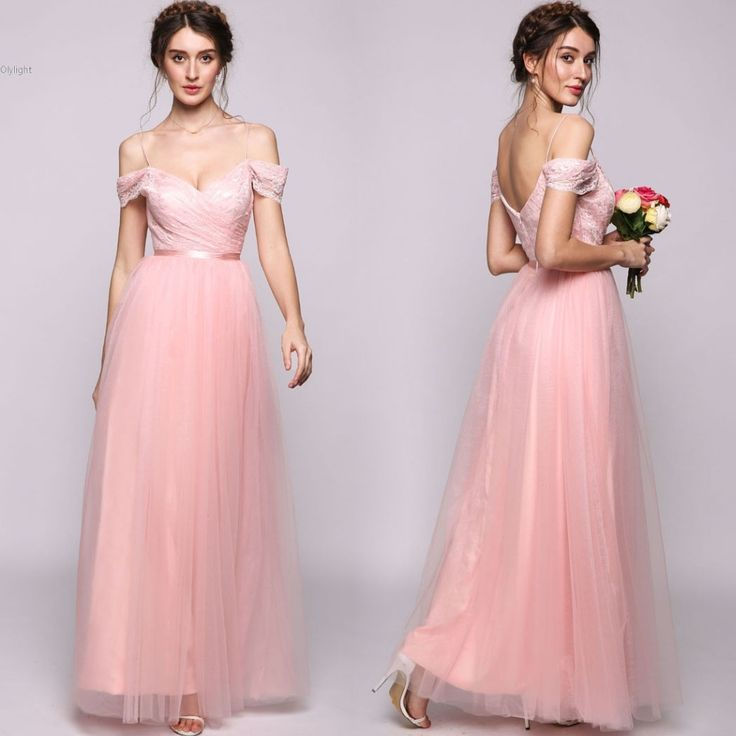 ==> [Free Shipping] Buy Best Long Mermaid Bridesmaid Dresses Pretty Tulle with Lace ruffle A-Line/Princess Off-the-Shoulder Wedding Party Gowns Online with LOWEST Price | 32799621397