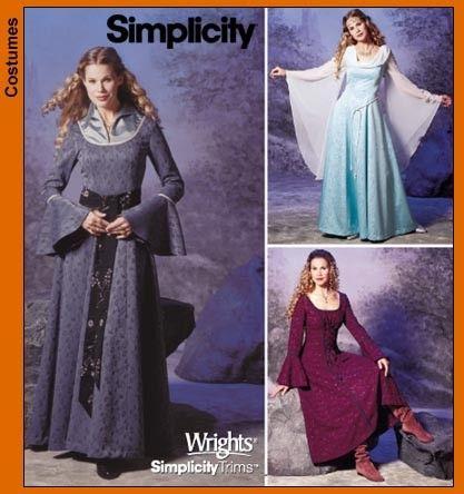 Simplicity Pattern 9891 - Renaissance Fantasy - Sz 6-12. $4.00, via Etsy.: Renaissance, Patterns 9891, Simplicity 9891, Medieval Dress, Simplicity Patterns, Costumes Ideas, Dresses Patterns, Crafts, Sewing Patterns