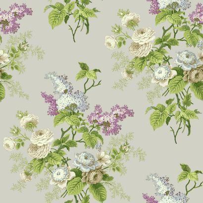 Emmas Garden Purple Waverly Wallpaper - Wall Sticker Outlet