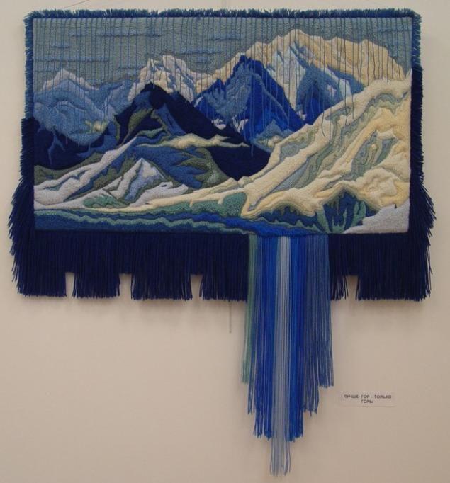alfombra tapiz volumétrica en el arte Yuriya Ovsepyana | costura