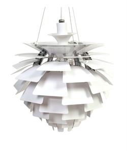 Dining table light. Replica Poul Henningsen Artichoke Light (Size A) by Poul Henningsen - Matt Blatt