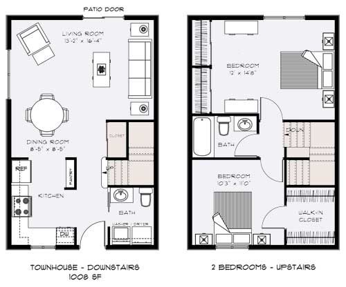 1000 images about townhouse on pinterest bedrooms grey walls and covered patios - Bedroom townhouse plans ...