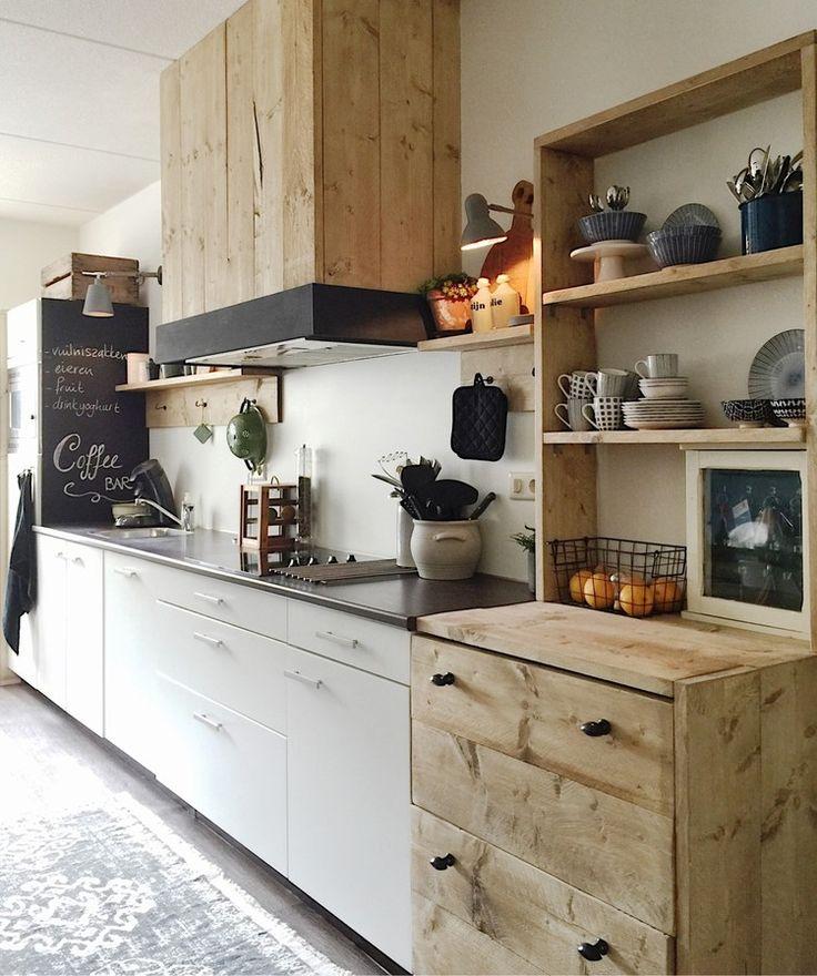 Meer dan 1000 afbeeldingen over keuken bijkeuken wasmachine op pinterest keuken eilanden en - Deco open keuken ...