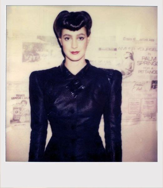 A Self-portrait of Sean Young on the set of Blade Runner.
