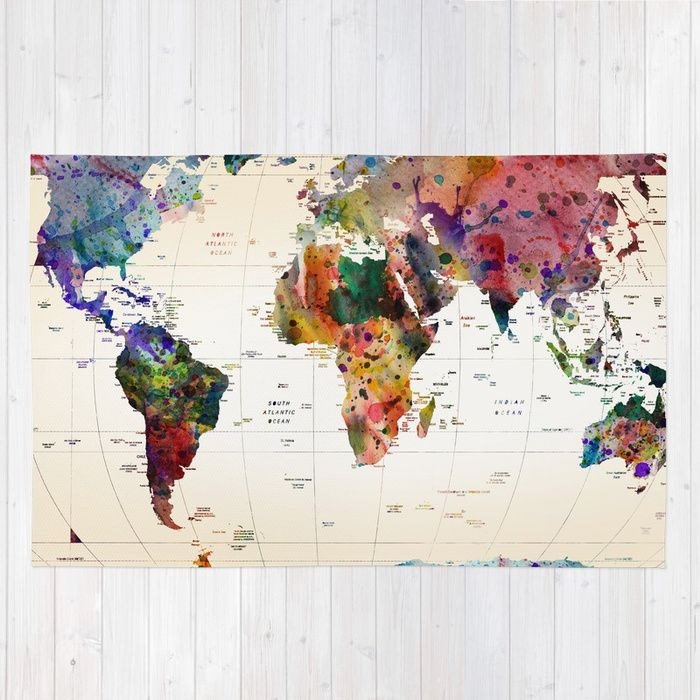 Buy map Rug by markashkenazi. Worldwide shipping available at Society6.com. Just one of millions of high quality products available.