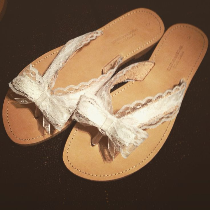 Wedding sandals custom made