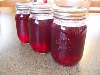 Raspberry Syrup. Might have to go buy some raspberries!
