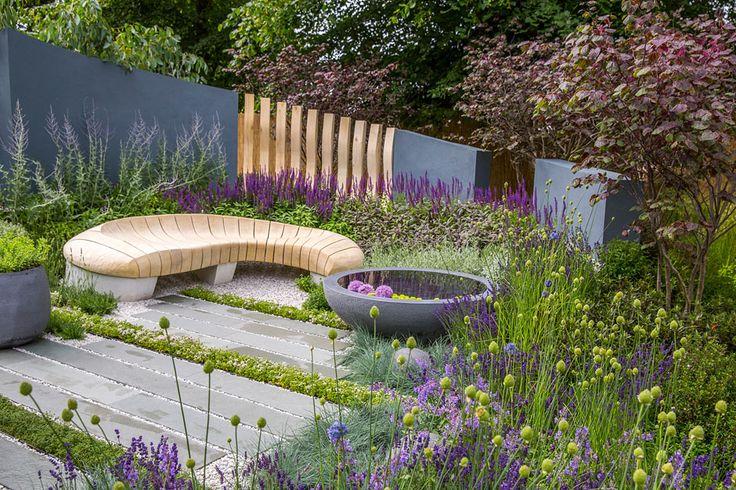 Living Landscapes: Healing Urban Garden (Summer Garden) at the RHS Hampton Court Flower Show 2015.