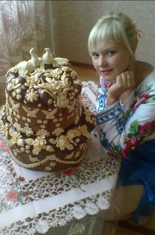 The wedding  bread , W Ukraine ,  from Iryna