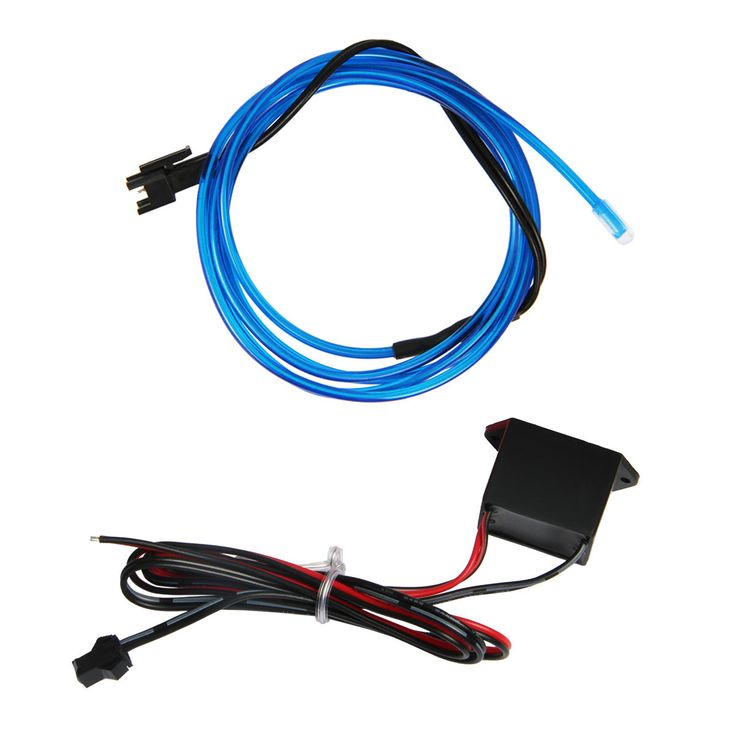2M Strip El Wire Led Rope Light Cable For Diy Car Decoration Electroluminescent