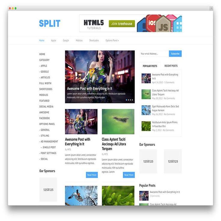 split-clean-blog-wordpress-theme
