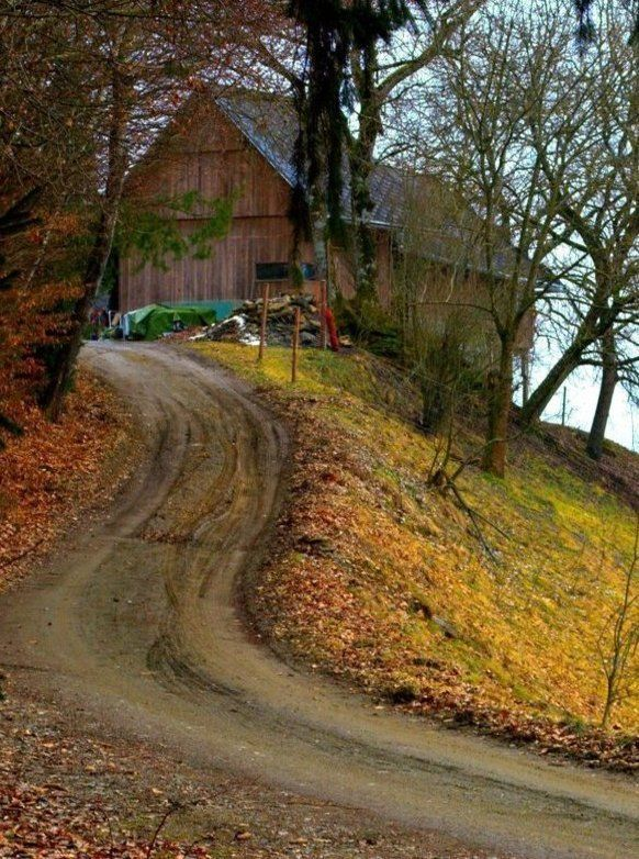 Barn and country road