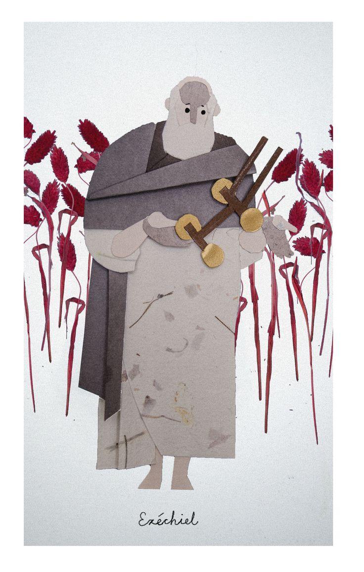 Ezekiel / Ézéchiel / Ezequiel // Illustration By Jakub Bednarz // Marche dans la Bible // Frères Dominicainesd de Lille, France // #Prophets #Bible #OldTestament