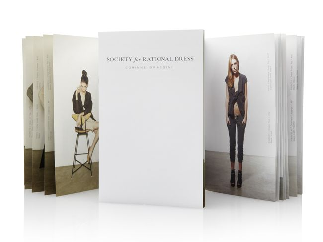 Society for Rational Dress lookbook design by Duffy & Partners