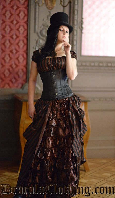 Steampunk Striped Dress would be cool to do for halloween