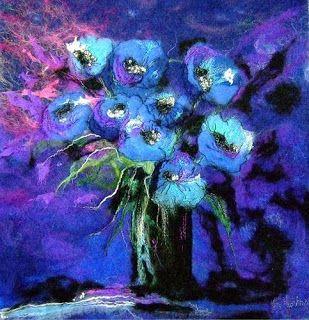 """Moy Mackay needle felt """"painting"""""""