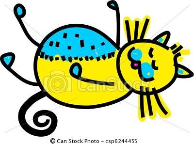Banco de ilustração - sonolento, gato - estoque de ilustração, ilustrações royalty free, banco de ícone clip arte, banco de ícones clip arte, fotos EPS, fotos, gráfico, gráficos, desenho, desenhos, imagem vetorial, arte vetor EPS.