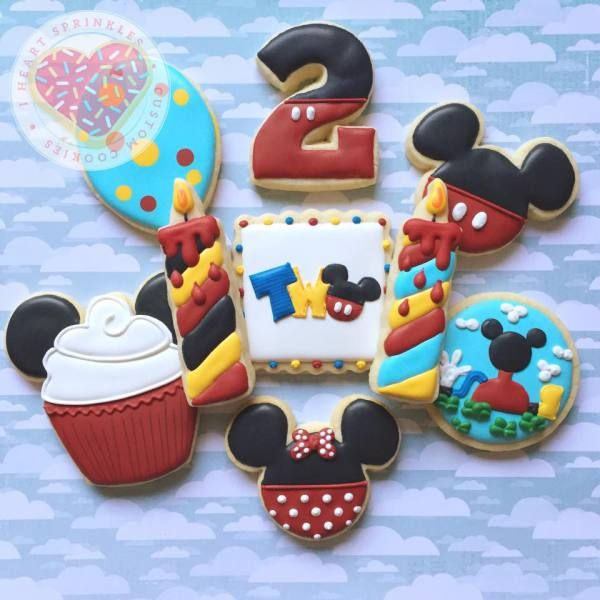 Mickey Mouse cookies Minnie cookies birthday cookies clubhouse cookies