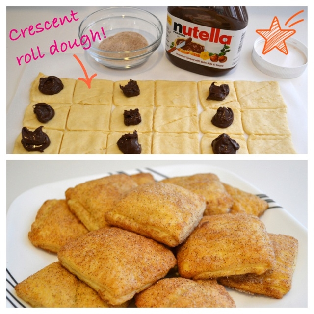 Recipe: Easy Nutella Breakfast Pockets - crescent roll dough filled with…