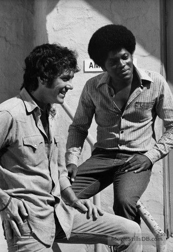 The Mod Squad - Behind the scenes photo of Clarence Williams Iii & Michael Cole
