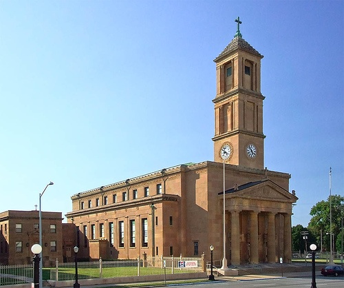 Exterior of the Cathedral of the Immaculate Conception, Springfield, Illinois.