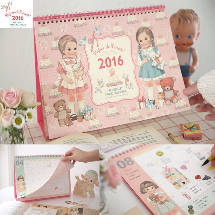 Afrocat Paper Doll Mate Schedule Table Calendar 2016 Diary Memo New Year Gift #Afrocat