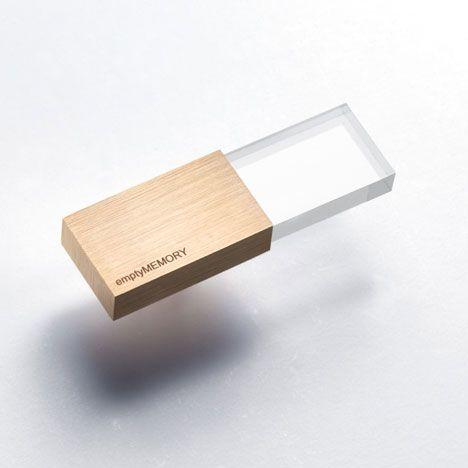 logical art | empty memory usb stick. love the transparent acrylic