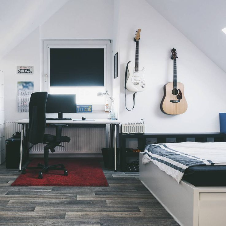 "Starting ""Weekly Bedroom Ideas"" series. Here's numero uno. This amazing bedroom is by reddit user /u/rofloma. Neat office and bedroom arrangement located in Germany."